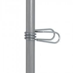 Ressort inox réglable, piquet fibre de verre ø12mm (50)